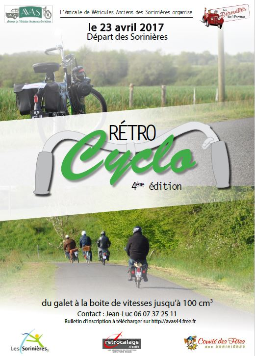 Retro Cyclos 2017 - Sortie Mobylettes et Solex au départ des Sorinières (44) le 23 Avril 2017-04_RetroCyclo